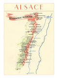 Map of Alsace Region Wine Country