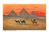 Giza Pyramid at Sunset  Egypt