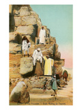 Arab Guides at Pyramids  Egypt
