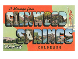 Message from Glenwood Springs  Colorado