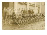 Lineup of Bicycle Couriers