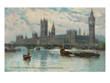 Houses of Parliament  Westminster Bridge  London  England