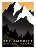 See America  Montana Travel Poster