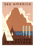 See America  Montana Travel Poster