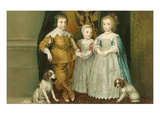 Portrait of Children with Dogs