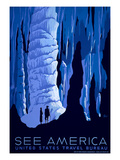 See American Travel Poster  Caverns