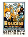 Do Spirits Return  Houdini Poster