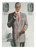 Man in Gray Suit Illustration
