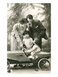 Family with Soap Box Racer
