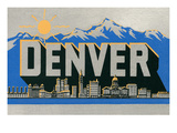 Travel Poster for Denver