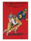 Program for Washington-Cal Football Game  1936