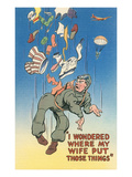 Cartoon of Parachutist