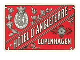 Hotel d'Angleterre Trunk Label