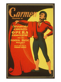 Poster for Wpa Carmen Production