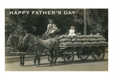 Happy Father's Day  Family on Wagon