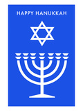 Happy Hanukkah  Menorah  Star of David