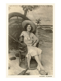 Woman Posing in Stuart  Florida