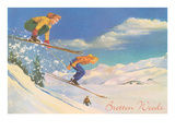Women Skiers  Bretton Woods  New Hampshire