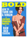 Bold  Lurid Magazine Cover with Cheesecake