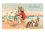 Beach Artist  Rockland  Maine