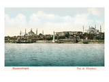 Vintage Constantinople Skyline  Turkey