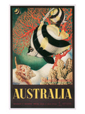 Australia Travel Poster  Great Barrier Reef