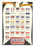 US Army  Navy  Marines and Coast Guard Service Ribbons