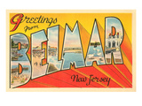 Greetings from Belmar  New Jersey