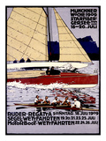 Munich Rowing Regatta Poster  Germany