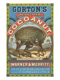 Gorton's Desicated Coconut Label  Monkeys