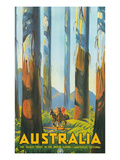 Australia Travel Poster  Gum Trees