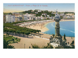 Concha Beach  San Sebastian  Spain