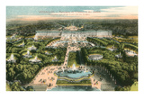 Overview of Versailles  France