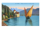 Chillon Castle  Lake Geneva  Switzerland