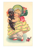 Little Southern Belle and Black Cat