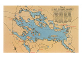 Map of Lake Winnipesaukee  New Hampshire