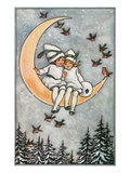 Winter  Children on Moon