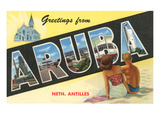 Greetings from Aruba  Netherland Antilles
