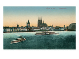 Overview of Cologne on the Rhine  Germany