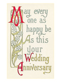 Art Nouveau Wedding Anniversary Wishes