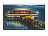 Pier at Night  Old Orchard Beach  Maine