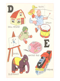Learning the Alphabet  D and E