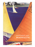 Sailing on White Bear Lake  Minnesota