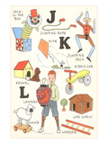 Learning the Alphabet  J  K and L