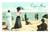Vintage Beach Scene  Cape May  New Jersey