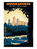 Travel Poster for Minneapolis