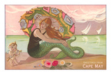 Greetings from Cape May  New Jersey  Mermaid with Cherub