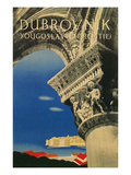 Travel Poster for Dubrovnik  Croatia