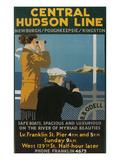 Travel Poster  Central Hudson Line