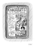 "A tablet displays ""The All-Comments Magazine"" - New Yorker Cartoon"